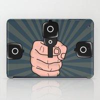 comics iPad Cases featuring comics gun  by mark ashkenazi