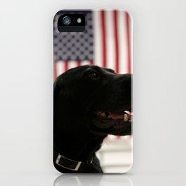 All-American Black Labrador iPhone Case