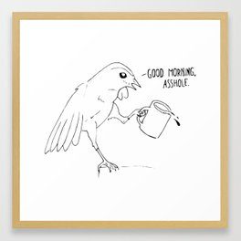 Good Morning Bird Framed Art Print