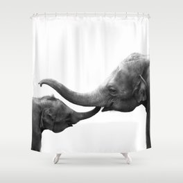 Wildlife Collection: Elephant Love Shower Curtain