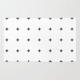 PLUS ((black on white)) Rug