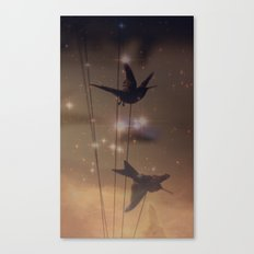 Hummingbird Galaxy Canvas Print