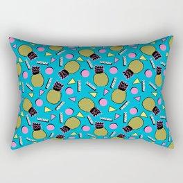 Primo - memphis retro throwback 1980s 80s neon style pop art wacka designs pineapple tropical fruit Rectangular Pillow