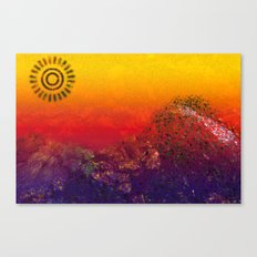 Mountain Series - Sunset Canvas Print
