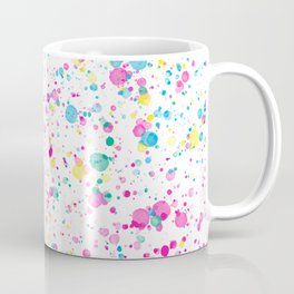 Spring Happy - Bright Color Paint Splatter Coffee Mug