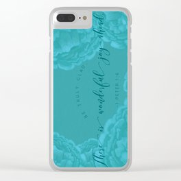 Truly Glad Clear iPhone Case