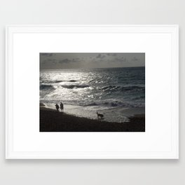 Walk along the shore  Framed Art Print