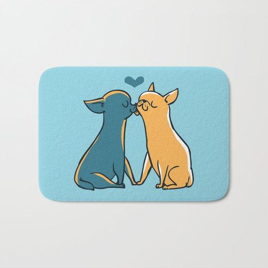 Chihuahua Kisses Bath Mat