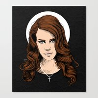 lana Canvas Prints featuring LANA. by paintparamore