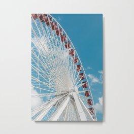 Navy Pier Ferris wheel / Chicago Metal Print