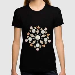 Florida Beachcombing Mandala 1 - Watercolor T-shirt