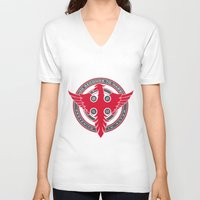 30 seconds to mars V-neck T-shirts featuring 30 Seconds to Mars by RockStamps