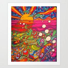Psychadelic Illustration Art Print