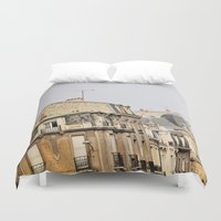 buildings Duvet Covers featuring Parisian buildings by Eves Eye | Picture Perfect