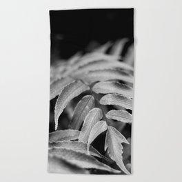 Deep In - leaves & fern Beach Towel