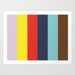LYRICS : (L)avender (Y)ellow (R)ed (I)ndigo (C)yan (S)epia Art Print
