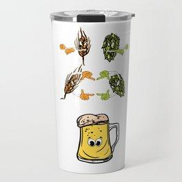 Beer fusion hop malt Anime Funny Gift Travel Mug