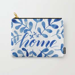 Watercolor home foliage - blue Carry-All Pouch