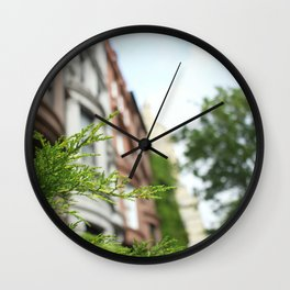 New York Apartments Wall Clock