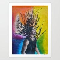 reggae Art Prints featuring Reggae by Halinka H
