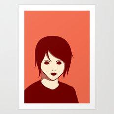 Emo Boy Art Print