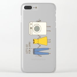 Let's go for a spin! Clear iPhone Case