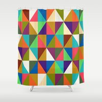 woody Shower Curtains featuring Woody by Bianca Green