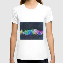 Paris skyline waterolor 2 T-shirt