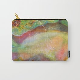 Colorful Abstract Marble Stone Green overtones Carry-All Pouch