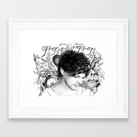 tattoos Framed Art Prints featuring Tattoos - L by wreckthisjessy