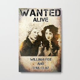 William and Thia: Wanted Poster Metal Print