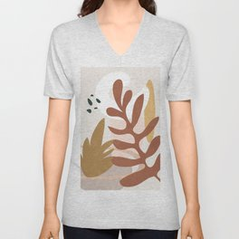 Abstract Plant Life II Unisex V-Neck