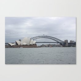 Sydney Opera House and Harbour Bridge Canvas Print