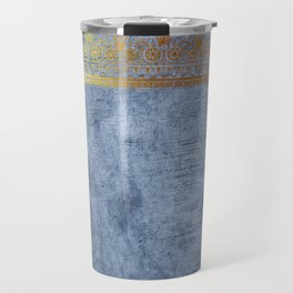 Blue Egypt Travel Mug