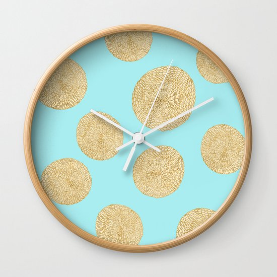 Straw Cushion Pattern Wall Clock