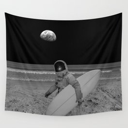 Moon surfer Wall Tapestry