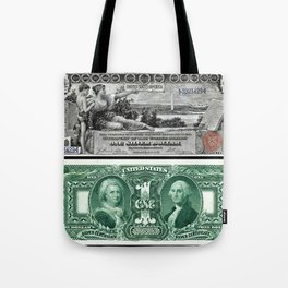 Vintage 1886 US $1 Dollar Bill Silver Certificate - Allegory History Instructing Youth Tote Bag