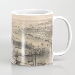 Vintage Pictorial Map of Brooklyn NY (1855) Coffee Mug