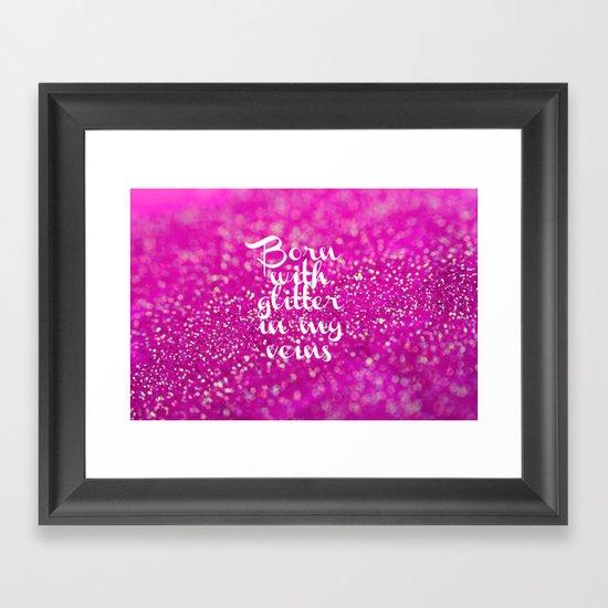 Glitter in my Veins II (Photo of Glitter) Framed Art Print