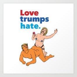 Love Trumps Hate Art Print