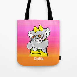 Koalita and the zebra finch Tote Bag