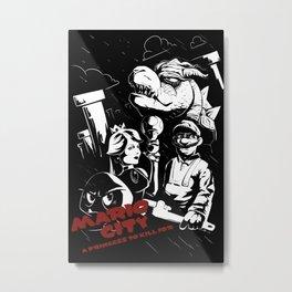 mario city Metal Print