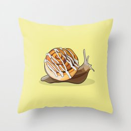 Cinnamon Bun Snail Throw Pillow