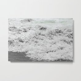 Minty Splash Metal Print
