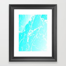 Cracked Ice Framed Art Print