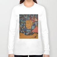 soviet Long Sleeve T-shirts featuring Moscow soviet union propaganda poster by Sofia Youshi