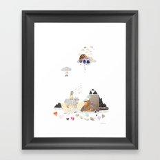 Hermit Crab vs. Snail Framed Art Print