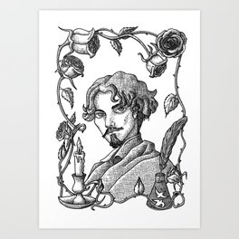 Gustavo Adolfo Bécquer  V. B&W Art Print