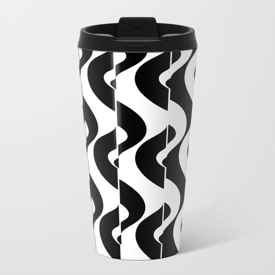OpArt Waves Metal Travel Mug