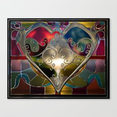 Heart of Stained Glass Canvas Print